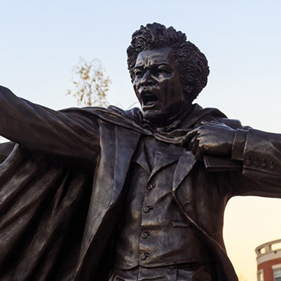 Democracy Then & Now - Frederick Douglass statue