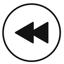 rewind icon. flat illustration of rewind icon for web