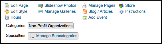 manage subcategories