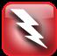 Red Lightning Bolt Graphic