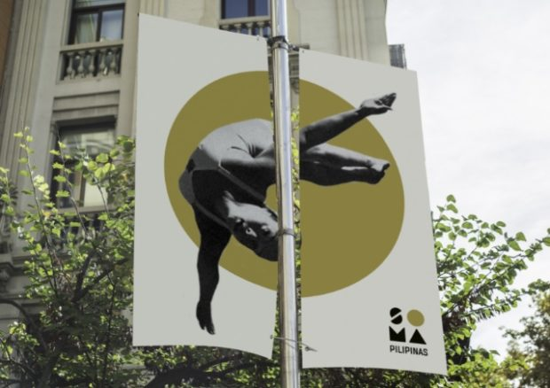 SOMA Pilipinas pole banner featuring Olympic diver Victoria Manalo Draves.