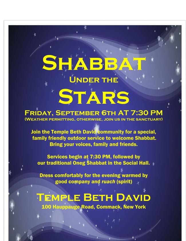 Shabbat Under The Stars