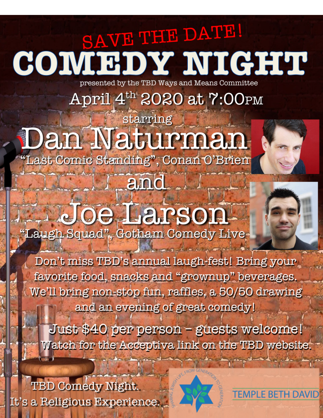 Comedy Night-save the date