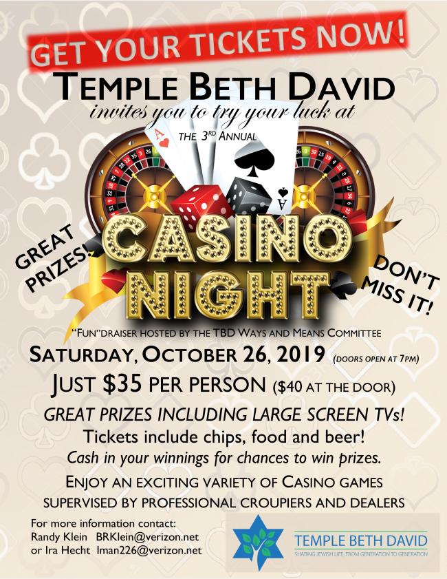 Casino Night Tickets now