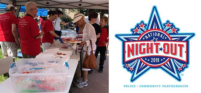 photo from national night out and national night out logo