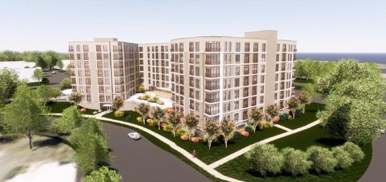 artist rendering of new building