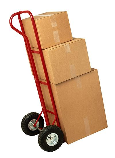 moving dolly with 3 boxes