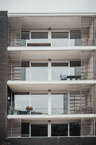 apartment building balconies