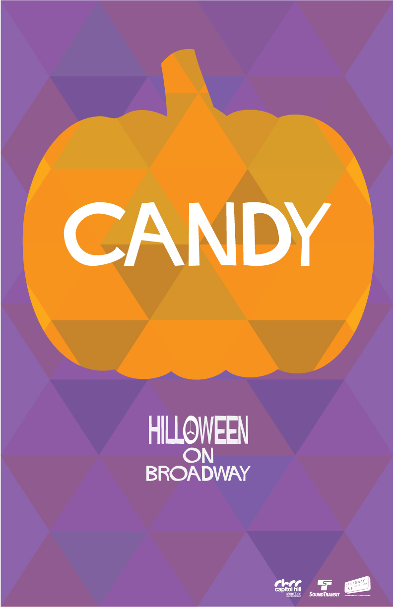 hilloween candy poster