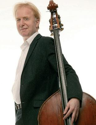 Photo of Peter Buckoke with double bass