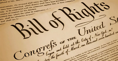 Picture of the US Bill of Rights title