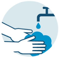 Wash your hands frequently and thoroughly using soap and water for at least 20 seconds. Use alchohol-based hand sanitizer if soap and water aren't available.