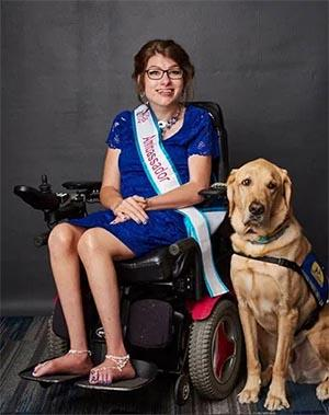 Jessica Gardner and her service dog Ford