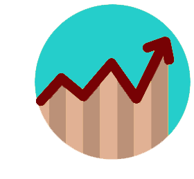 Chart graph icon - numbers rising