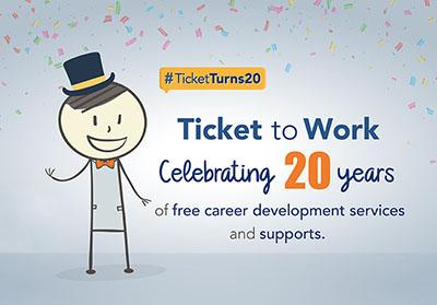 Ticket to Work 20th anniversary image