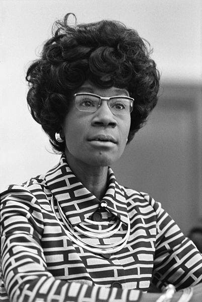 Shirley Chisholm, American politician, educator, and author.