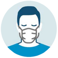 Only wear a face mask if you have symptoms or are caring for someone with respiratory symptoms.