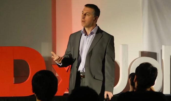 Rob Brown speaking at his Ted event