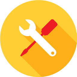 Tools that Work icon wioth hammer and screwdriver