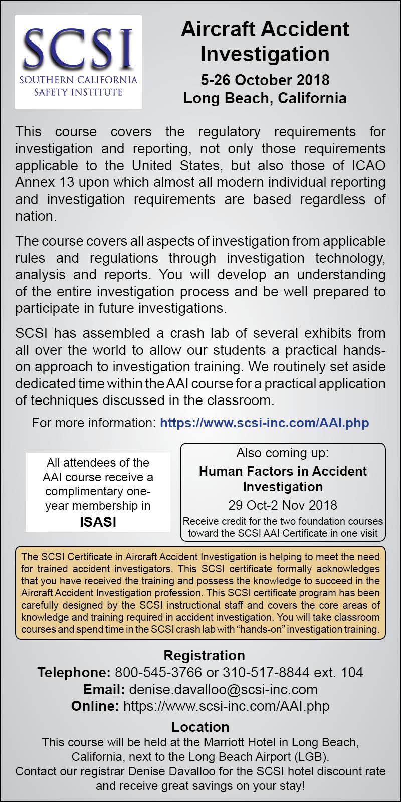 Flight Safety Information [September 27, 2018] [No  197]