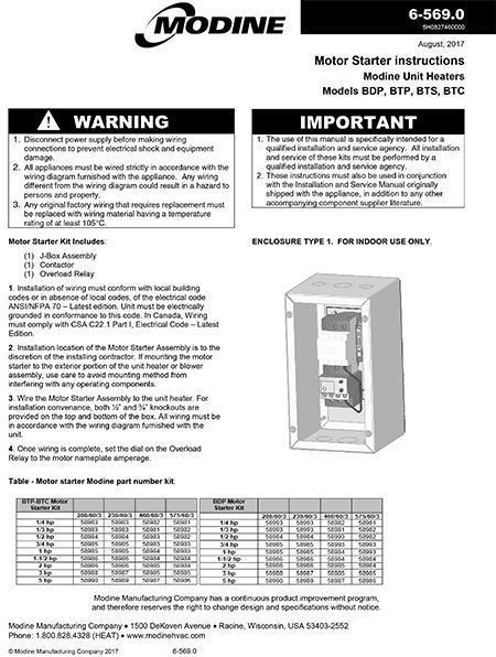 Modine Unit Heater Wiring Diagram