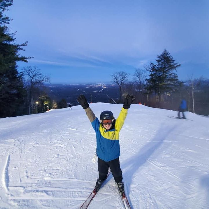 Happy Kid At West Mountain