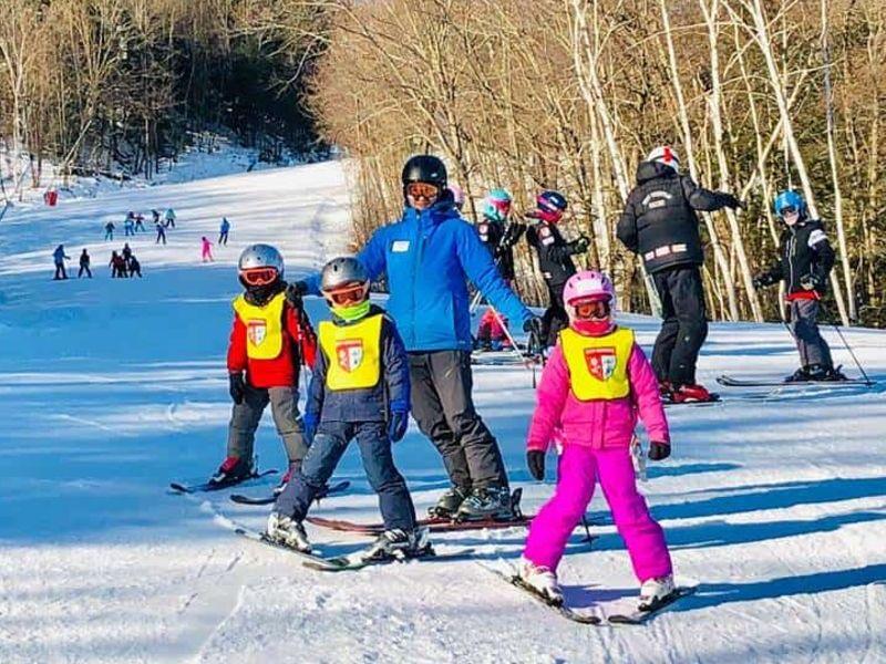 Kids Learning to Ski