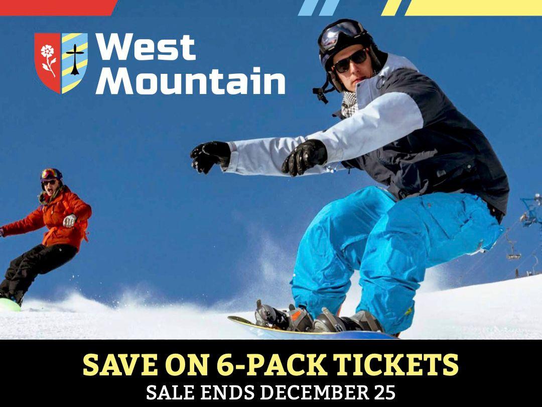 6 Pack Ticket Sales