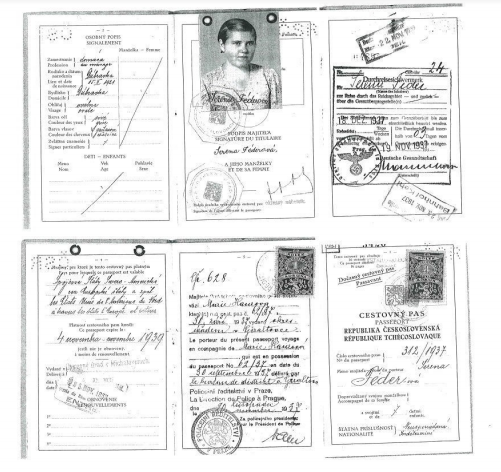 (Photo: ship record of Margita, 16, and Serena, 15, who came to the U.S. as unaccompanied minors before their parents and two younger siblings perished in the Holocaust.)