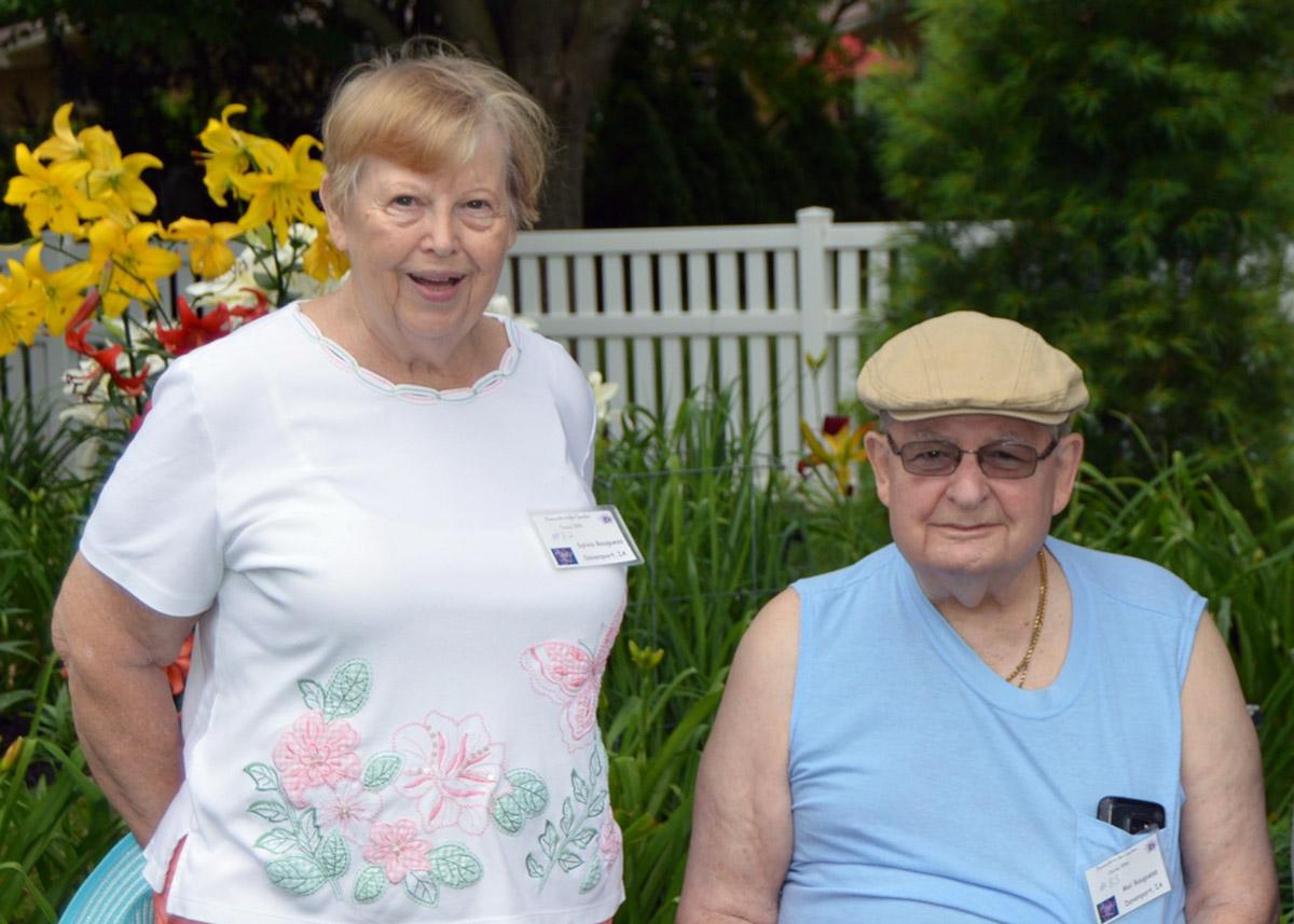 Mel and Sylvia Bauguess at Nancy Lee Anderson's Farmony Garden