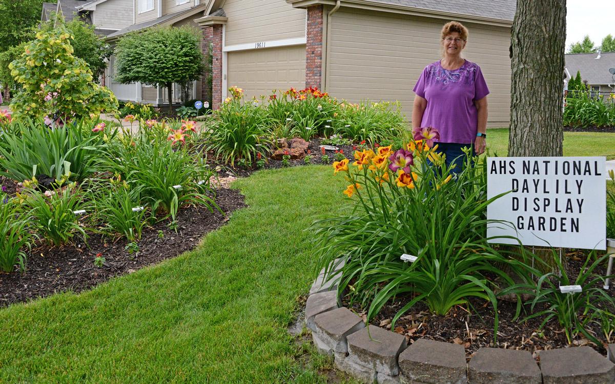 Linda Scott in her ADS Display Garden