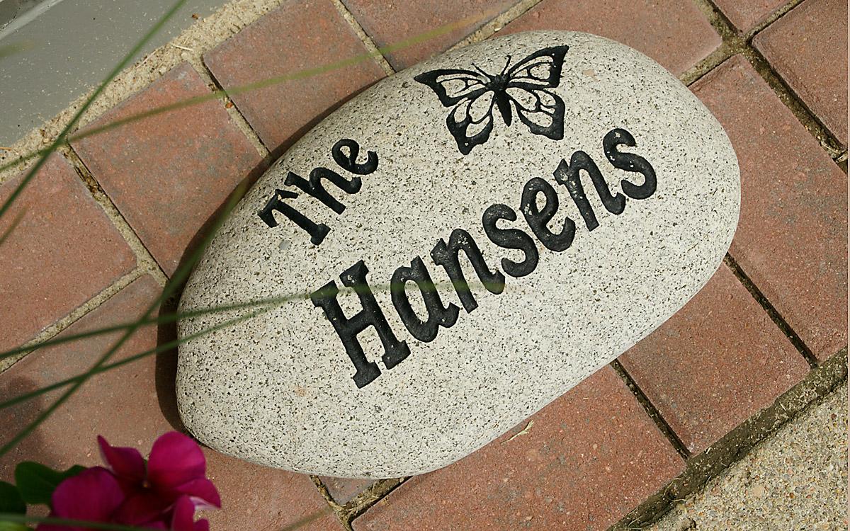 Hansen welcome stone