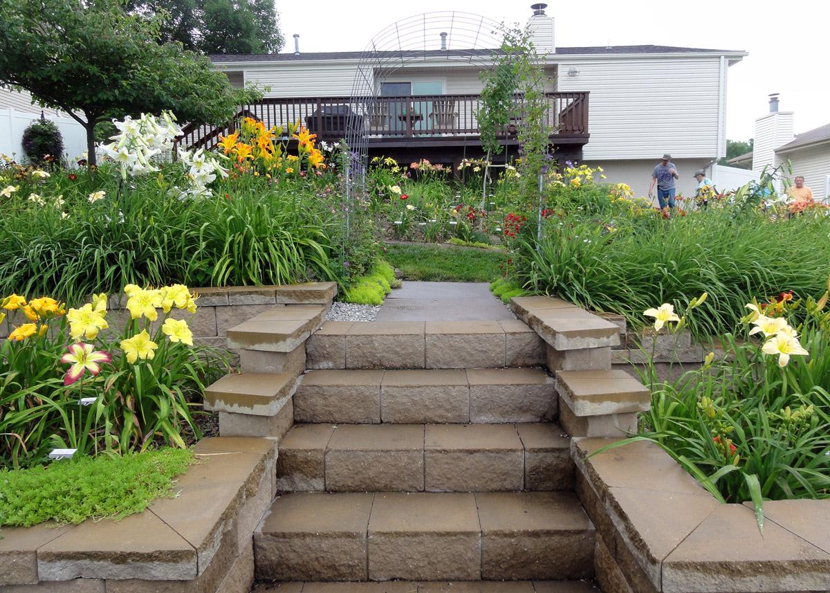 Mary Baker garden steps