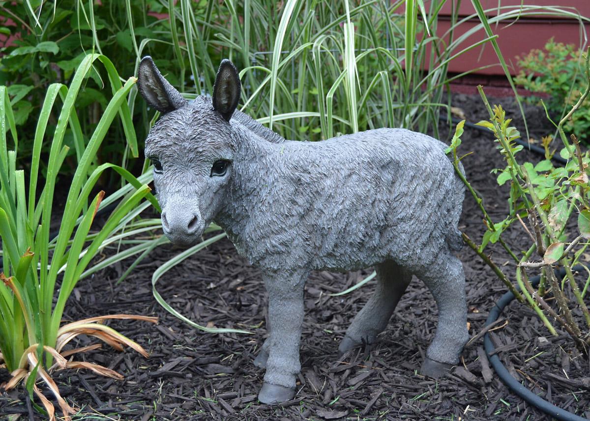 Donkey garden ornament