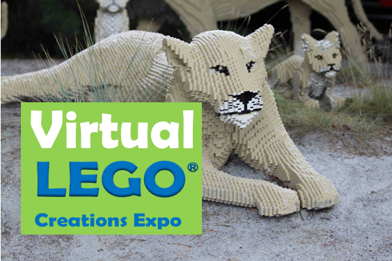 Virtual Lego Creations Lioness made out of legos
