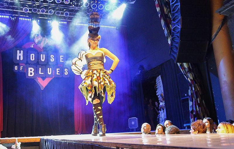 Sarah Brooks at the IIDA Fashion Show