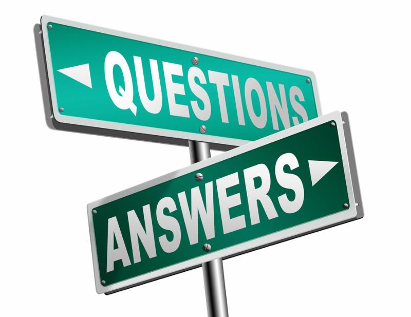 questions answers ask the right question and get an answer help or support desk solve problems and find solutions road sign 3D illustration