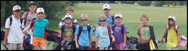 Juniors golfing
