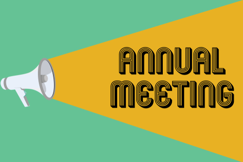 Conceptual hand writing showing Annual Meeting. Business photo showcasing Yearly gathering of an organization interested shareholders