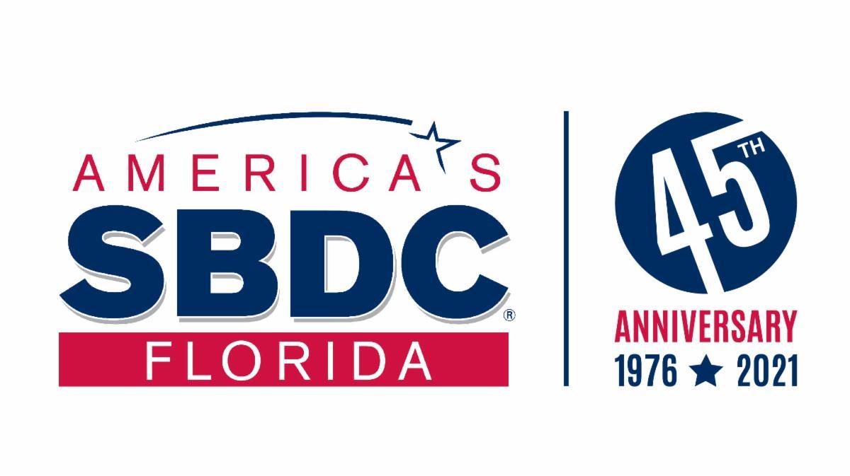 America's SBDC Florida and 45th anniversary logo