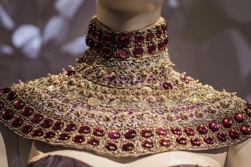 Detail of Alexander McQueen Gown