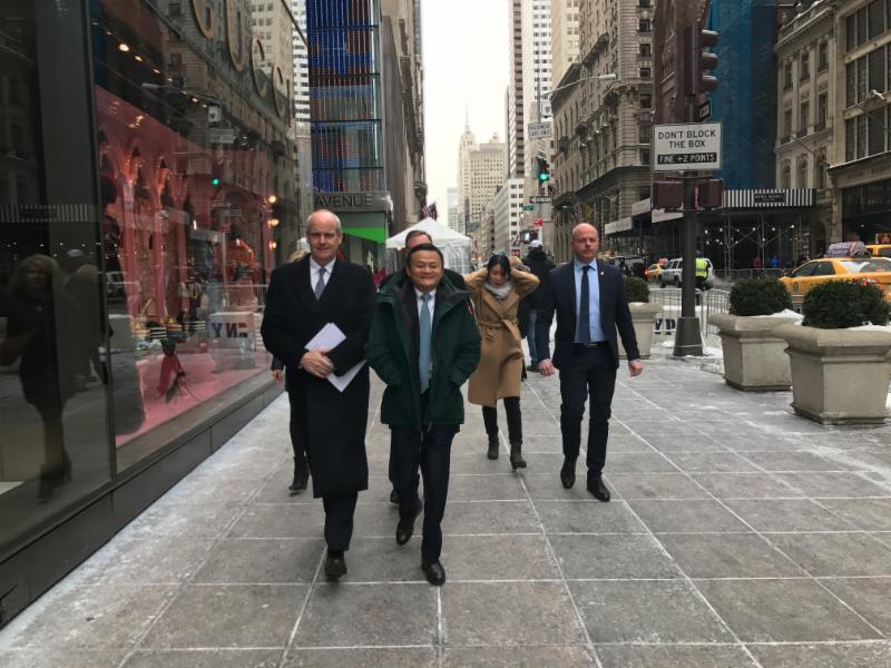 Jack Ma visits Trump