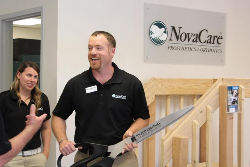 Ben Hammond_ Facility Director at NovaCare Prosthetics and Orthotics during a ribbon cutting ceremony