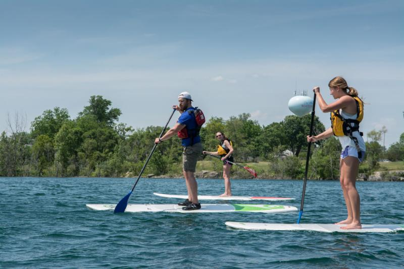 Paddle Boarding at the Metroparks