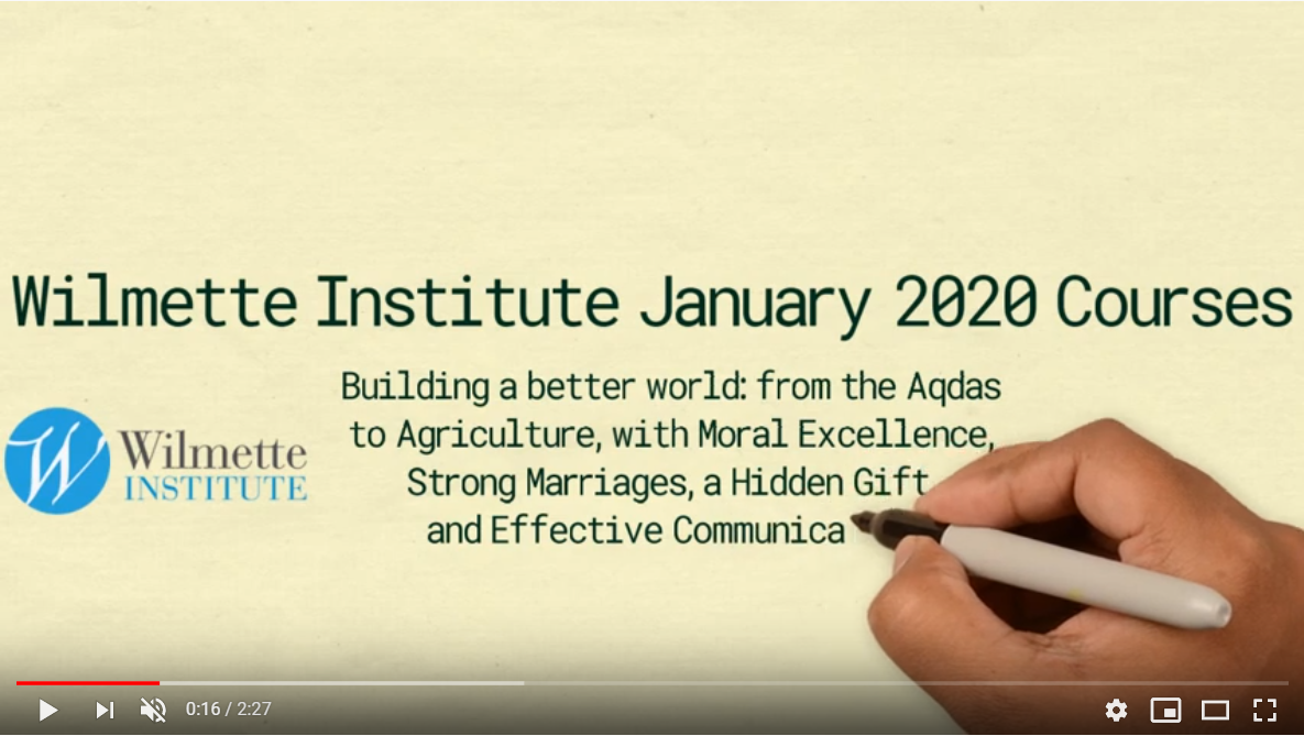 screenshot from Jan 2020 WI Courses video
