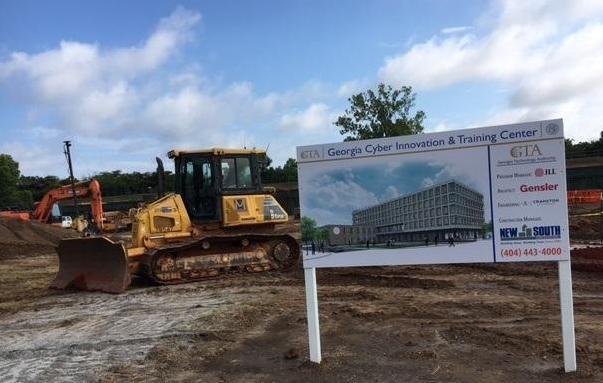 Cyber center groundbreak construction site
