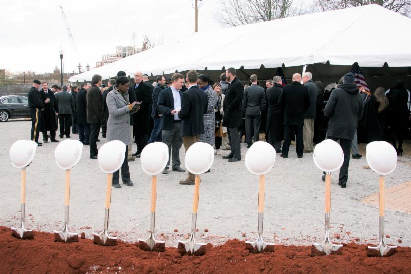Cyber Ctr groundbreak2 shovels