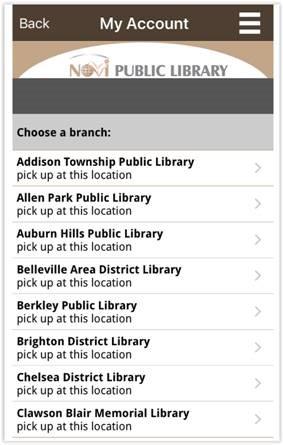 Library App Screenshot