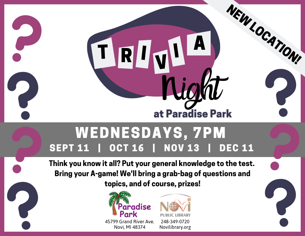 Trivia Night at Paradise Park