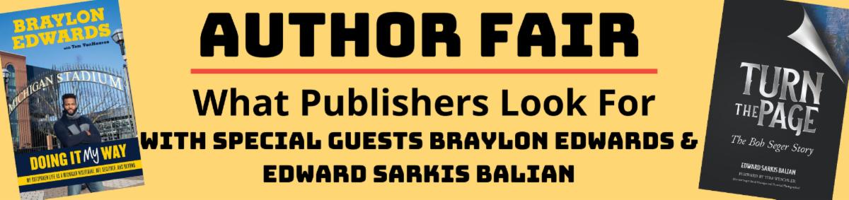 Author Fair Program with Braylon Edwards and Edward Sarkis Balian